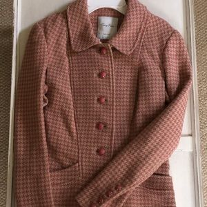 Tracy Reese Fitted Pink and Tan Tweed Blazer